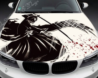 Manga Full Color Graphics Adhesive Vinyl Sticker Fit any Car Hood Bonnet 063