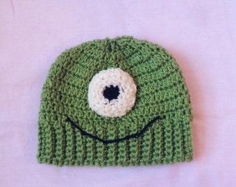 Crochet Kids Monsters Inc Beanie