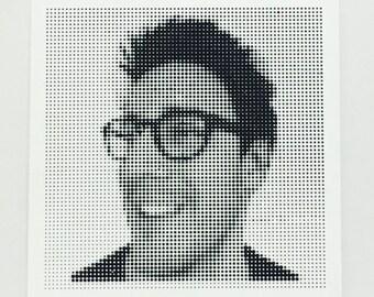 Personalised Halftone Portrait - 6 Tiles