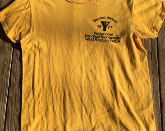 1977/ ymca tshirt/ suoer thin and soft!! Sz lg