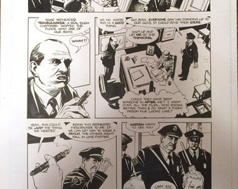 Original art from Michael Chabon's Amazing Adventures of The Escapist #1, page 9