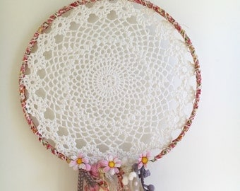 CUSTOM dreamcatcher | baby | nursery | kids room | wedding | bohemian | lace | pompom | tipi | hippy | wall decor
