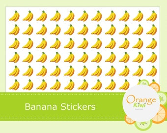 Banana Stickers - Planner Stickers - Fruit Stickers - Lunch Planner Stickers