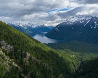 Chiliwack Lake. Aerial photography