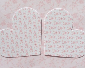 10 Card Hearts - for little notes, scrap booking, crafting projects - Printed on one side.