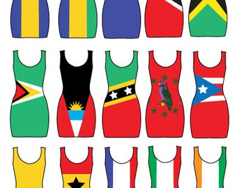 FLAG DRESS, Bodycon Dress, Lycra Dress, Spandex Dress, Custom Dress