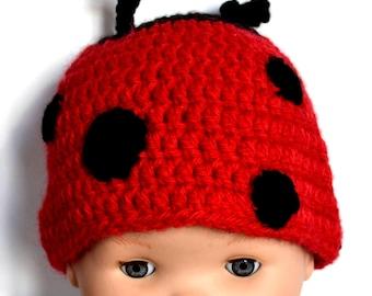 Hat crochet Ladybug