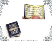 Beethoven Music Sheet Dollhouse Miniature Book – 12th Scale OPENABLE Beethoven Classical Music Sheet Music Miniature Book Printable DOWNLOAD