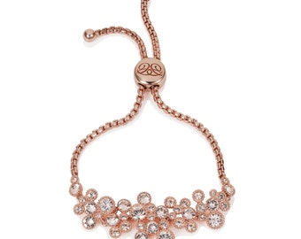 Titania 18ct Rose Gold Plated Indian Sapphire SWAROVSKI Crystal Friendship Bracelet