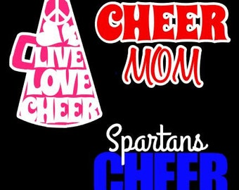 Cheer Mascot Megaphone Cheerleading Vinyl Decal Sticker