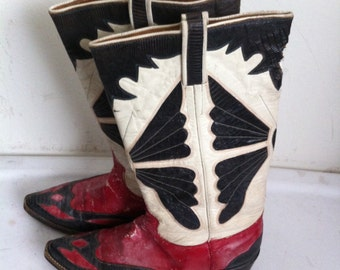Cowboy boots men's 9 1/2, old shoes 30s.