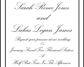 Double Dove (Wedding Invitation)