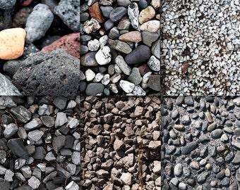 Digital pebbles, Stones | download, black, brown, grey, red, flint, gravel