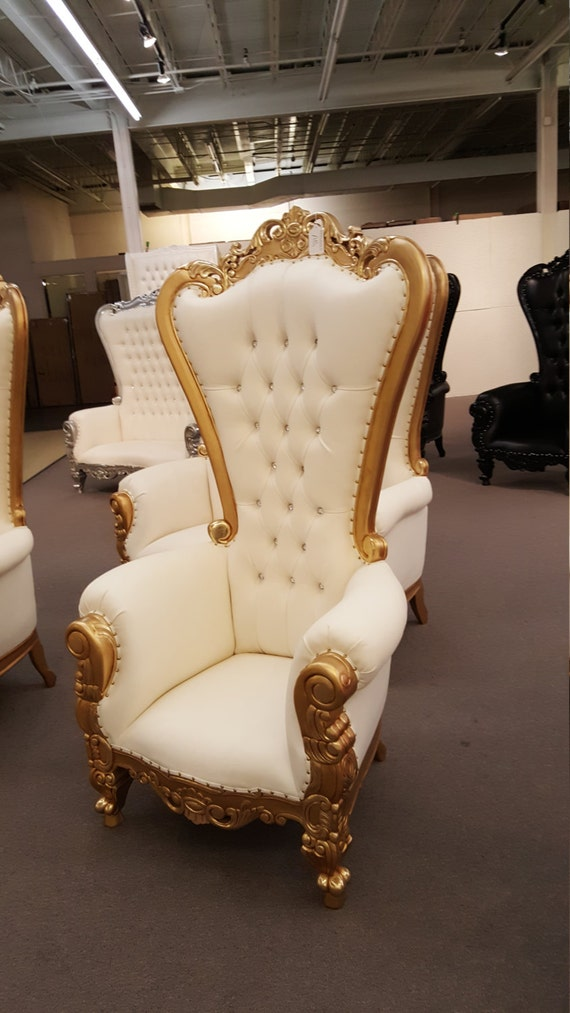 Awesome Isaias Luxury Furniture Wholesale Prices 6 Foot King Chair With Crystals
