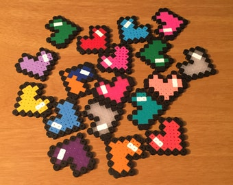 8 Bit Hearts   Sets of 10   Nerdy Collectible   Pixel Art   Table Scatter   Cupcake Topper   Decoration   Wedding