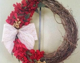 Custom Floral Grapevine Wreath