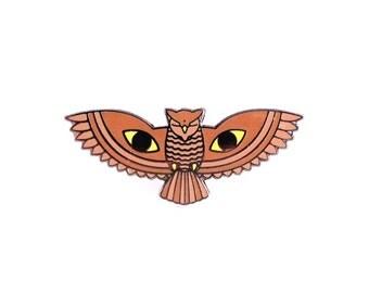 All Seeing Owl Enamel Lapel Pin
