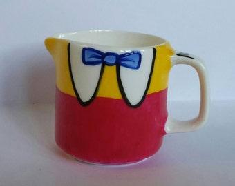 Hand Painted Tweedle Dee and Tweedle Dum porcelain milk jug / creamer (120ml) inspired by Disney's Alice in Wonderland