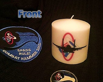 94th FS Spads customizable candle