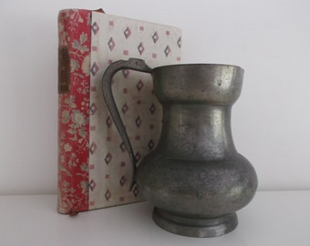 pitcher chic shabby - chic shabby pewter pewter pitcher