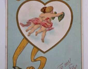 Vintage Valentine Postcard Early 1900's Epherma