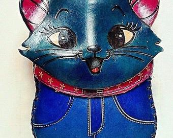 BLUE CAT geniune leather wallet / purse / case