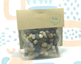 River Pebbles Terrarium Filler // 5oz // Hello Tilly Airplant