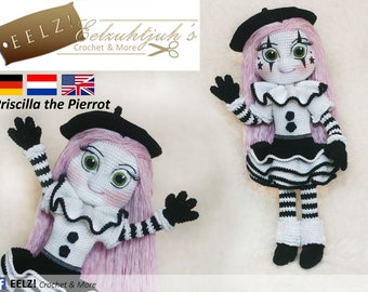 Priscilla the Pierrot - Crochet Pattern