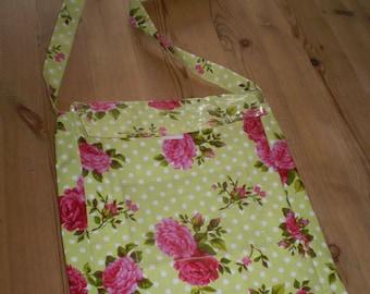 Vintage Ladies French 1980's Roses Fun Shopping Bag