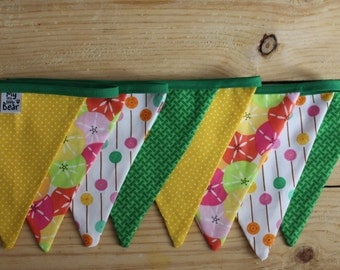 Flags of fabric, banner, banner, garland, Garland vintage vintage fabric bunting