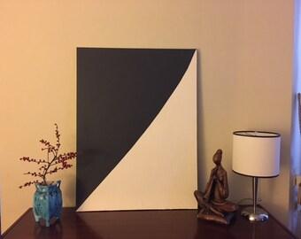 Modern Art…Large Black & White Painting