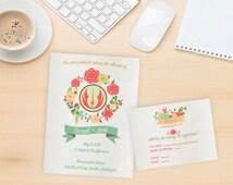 Star Wars Wedding Invitation Package - Custom Printable 5x7 Star Wars Wedding Invitation and RSVP Card