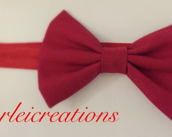 Red head band with bow