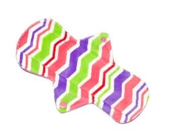 Minky Cloth Pad/soft minky cloth pads/oohlala cloth pads/mamacloth pads/feminine product/ soft cloth pads/11 pads/9 1/2''