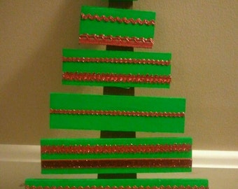 Wooden Decorated Christmas Tree