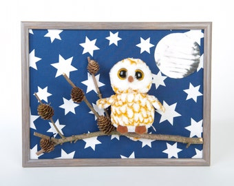 Kids image OWL decoration Swoops Beany Boos animal wall decoration nursery mural baby picture cute picture of children stuffed animal