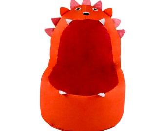 Orange Lion Bean Bag Chair