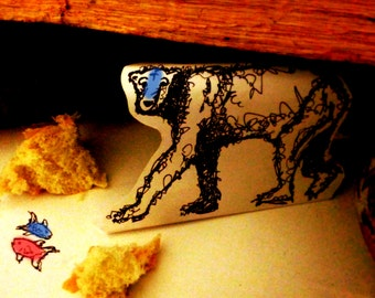 Blue Face Bear: Photo Print of a Paper Diorama, Limited Edition