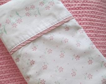 PiNK Floral Flat Sheet- Twin