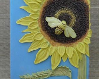 Sunflower Bee Wall Art
