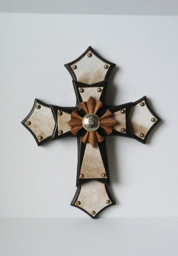 Southwestern cross cowboy cross home decor wall decor for Cross decorations for home