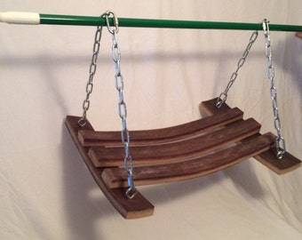 Wine barrel swing
