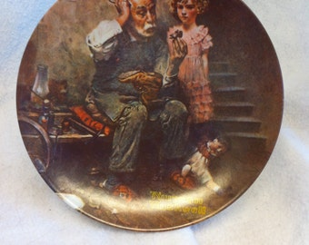 """Norman Rockwell """"The Cobbler"""" Collector's Plate"""