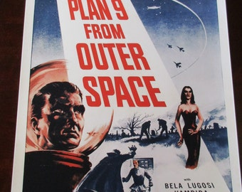 Plan 9 From Outer Space Movie Poster 24x36in Ed Wood scifi classic