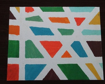"""Abstract Art on 11""""x14"""" Canvas"""