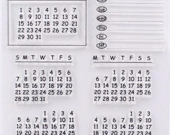Calendar Stamp, Rubber Stamps, Travel Stamps for Traveller's Notebook, Journal Accessories - STM031