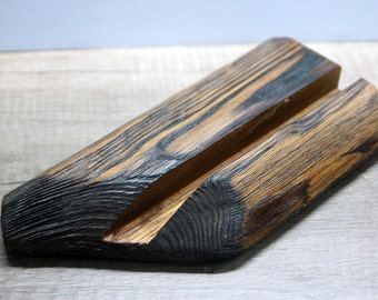 iPad stand. Wood iPad stand. Rustic stand. Rustic iPad stand.