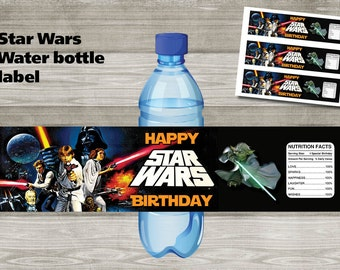 Instand DL - Star Wars - Water Bottle Label Printable-  Printable (NON Personalized)
