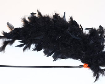 Super Plush Feather Cat Wand