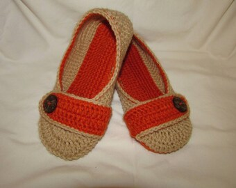 Made to order, crocheted slippers, ballets, flats, wedding slippers,women's slippers, crochet, house slippers,lady's slippers.